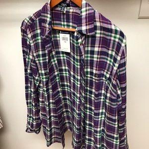 Chaps Ralph Lauren Button Plaid Flannel shirt 1x